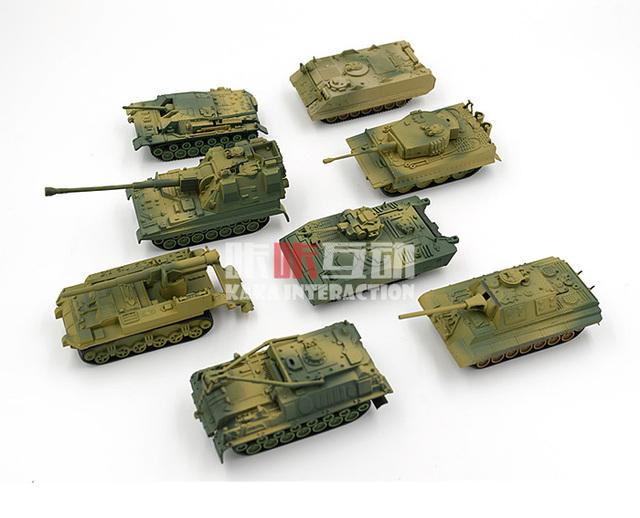 Segunda geração plástico 4D montado tanque Kits oito tanques 1 : 72 escala montagem militar brinquedos para crianças frete grátis