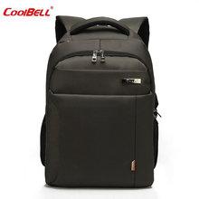 Coolbell ноутбук рюкзак Для мужчин Для женщин Bolsa Mochila для 15.6 дюймов Тетрадь Компьютер Рюкзак Школьная Сумка для подростков-ff