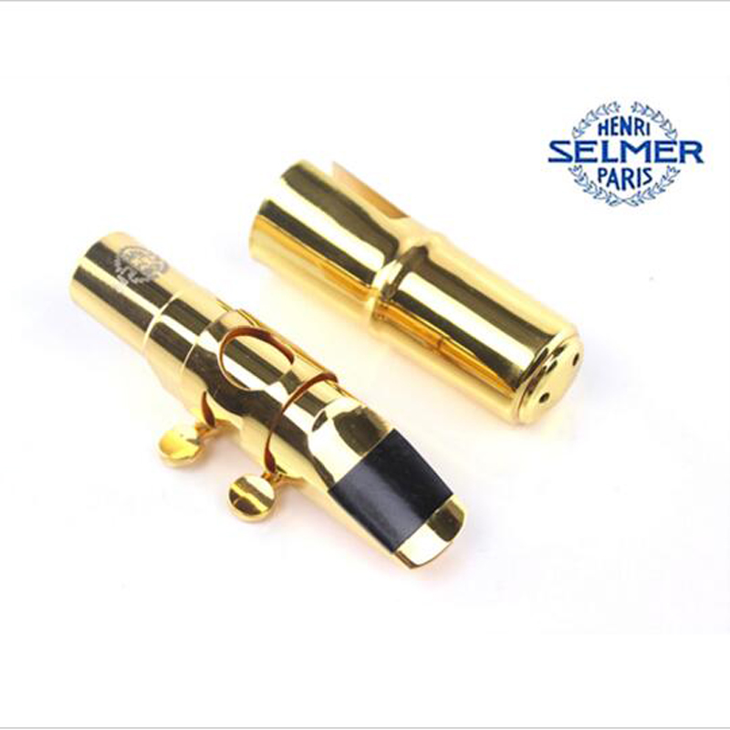 High Quality (SELMER) Gold Plated Jazz Metal Alto Tenor Soprano Saxophone Mouthpiece Nozzle No 7 S80 E Professional instrument high grade metal selmer saxophone mouthpiece alto sax mpc gold plated size 7