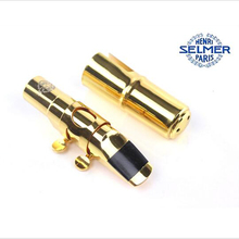 High Quality (SELMER) Gold Plated Jazz Metal Alto Tenor Soprano Saxophone Mouthpiece Nozzle No 7 S80 E Professional instrument