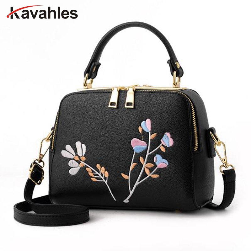 2018 New Fashion Embroidery Bags Women High Quality PU Leather Flower Crossbody Bags For Girls Luxury Handbags Women Bag  PP-934 new national embroidery bags high quality women fashion shoulder