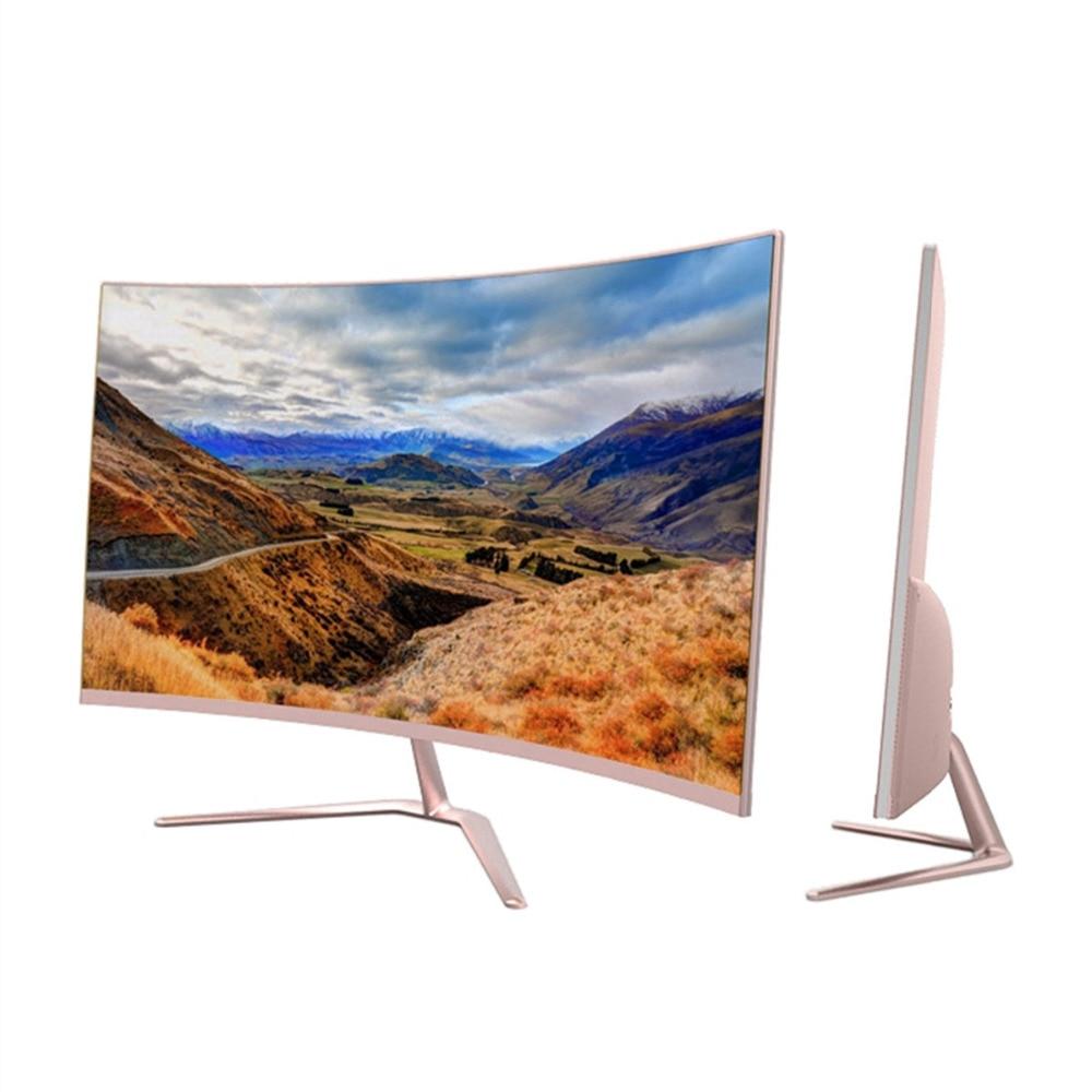 все цены на Pink Gold Wearson 2800R 23.6 inch Curved Wide Screen LCD Gaming Monitor 2mm Little Edge HDMI VGA input Beautiful Looking онлайн