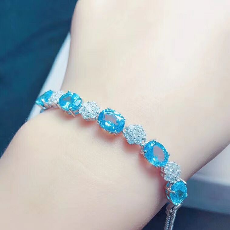 S925 silver bracelet with natural yu stone/S925 silver bracelet with natural yu stone/