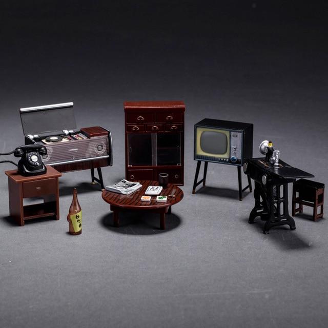 1 Set Vintage 1:24 Scale Miniature Dollhouse Japanese Japan Furniture  Fridge Magnet Doll House