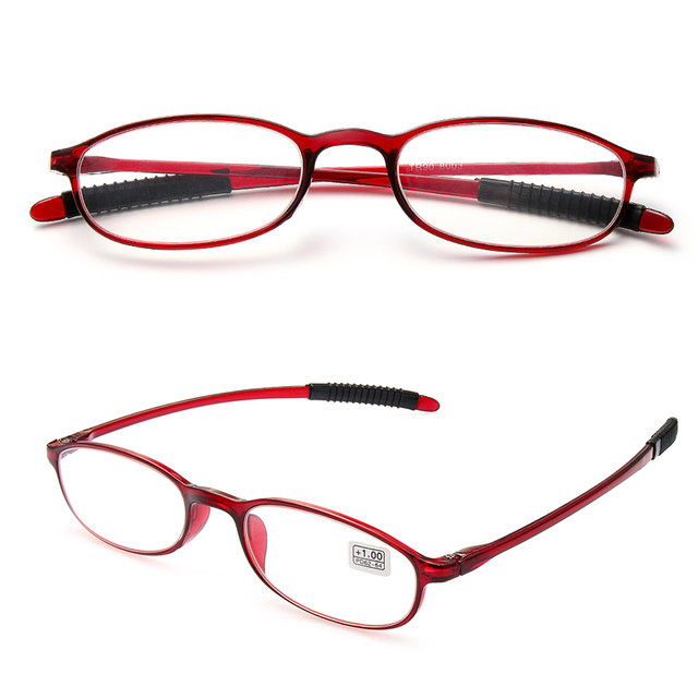 +1.00~+4.0 Diopter Men Women Ultra-light Fashion Reading Glasses Resin Anti-skidding Eyeglasses Elders Vision Care Presbyopic