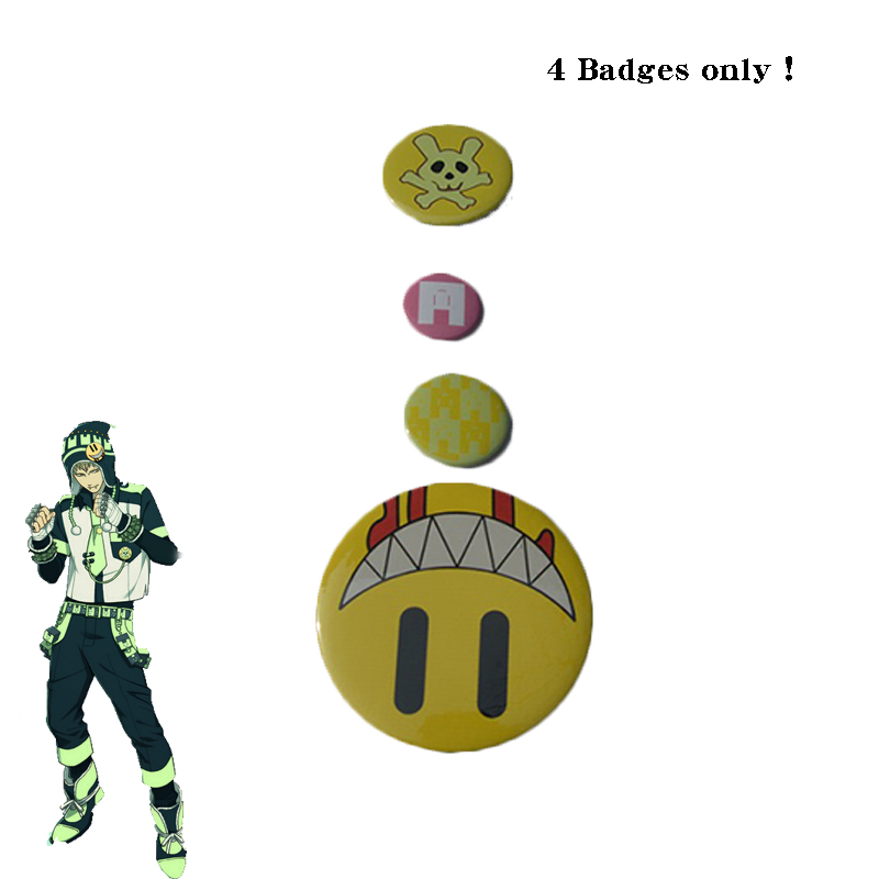 Game DMMD Dramatical Murder Noiz Cosplay Badges One Set Four Badges