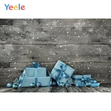 Yeele Christmas Photocall Wood Texture Gifts Balls  Photography Backdrops Personalized Photographic Backgrounds For Photo Studio