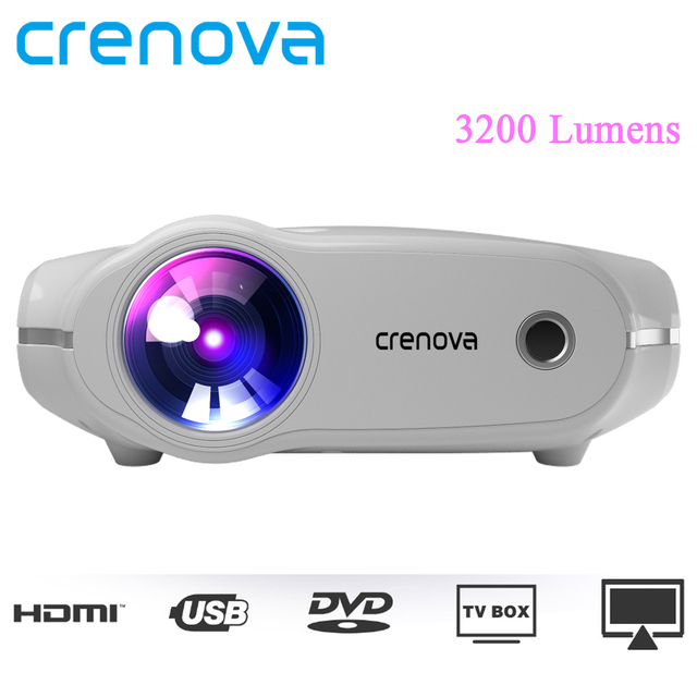 Special Price CRENOVA XPE498 New Portable Projector For Full HD 4K*2K 3200 Lumens 4 Inch Home Theater Movie Beamer With HDMI VGA AV Proyector