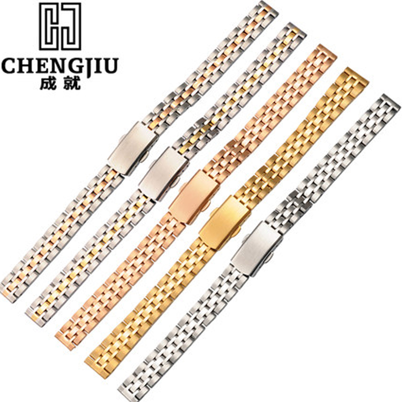 Stainless Steel Ladies Watch Strap For Longines/Daniel Wellington Watches Men Top Brand Bracelet Metal Watch Band For Womens