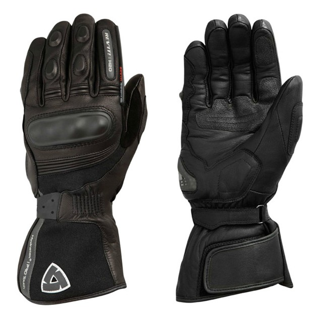 2018 REVIT Warm Waterproof Gloves Motorcycle ATV Cycling Riding Black Leather Gloves
