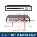 Yunsye AHD-H DVR 8 canais CCTV AHD DVR AHD-M híbrido DVR / 4em1 1080 P NVR gravador de vídeo para AHD câmera IP câmera câmera analógica