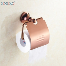 цена Xogolo copper rose gold toilet paper holder paper towel holder roll holder bathroom hardware accessories 4051  онлайн в 2017 году