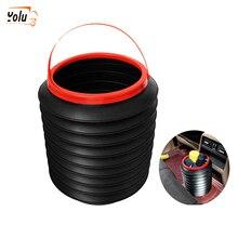 YOLU 4L Universal Car Trash Bin Auto Organizer Storage Box Can Rubbish Gargage Holder Automobile Bucket Access