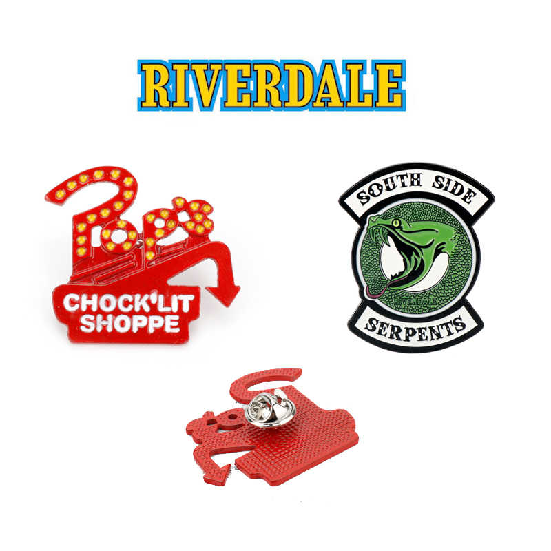 Riverdale Enamel Pin Brooch Men Women Jewelry denim clothes Backpack Hat badges pins