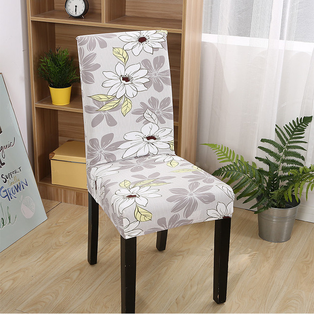 Floral Print Chair Cover Home Dining Elastic Polyester Spandex Chair Covers  Multifunction Universal Stretch Furniture Protector