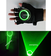 New 532nm Green Laser Gloves Vortex Effect Stage Laser lights Chargable DJ Party laser lighting left