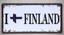 1 pc I love Finland plaques football flag Tin Plates Signs wall man cave Decoration Metal Art Vintage Poster