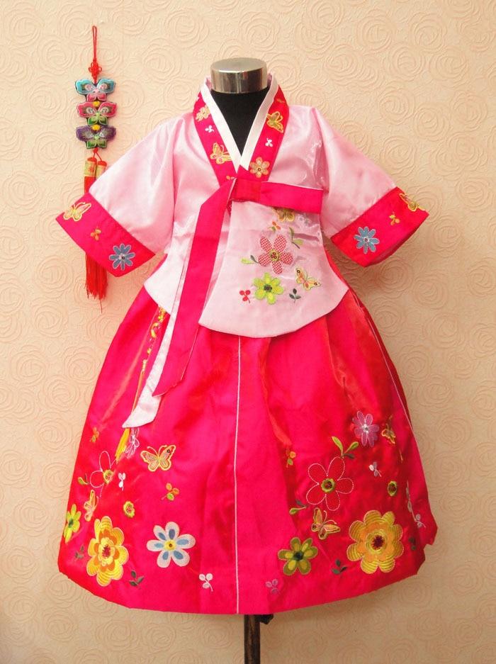 Trušu meiteņu hanbok bērnu apģērbu kleita pavasara un rudens - Bērnu apģērbi - Foto 1
