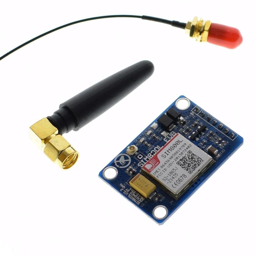 SIM800L V2.0 5 V Sans Fil GSM GPRS MODULE Quad-Bande W/Antenne Câble Cap