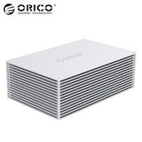 ORICO 3.5 inch DIY HDD Enclosure Adapter USB 3.0 3.1 Type C to SATA Aluminum Dual Bay Single Bay Hard Drive Box External Case