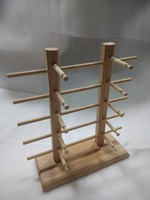 Free shipping bamboo product high grade 10 grid eyeglass holder