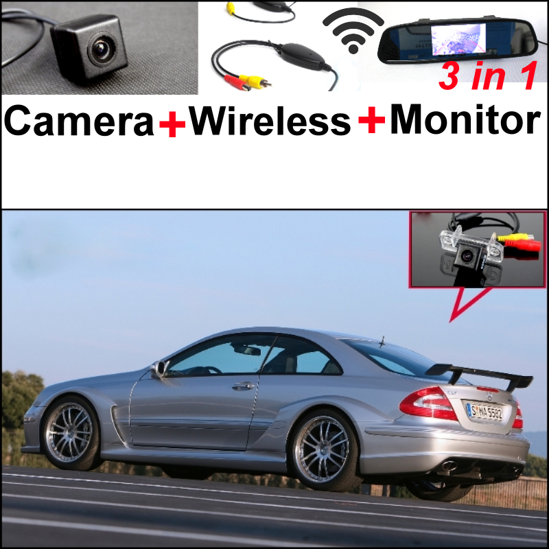Special WiFi Camera + Wireless Receiver + Mirror Screen 3 in 1 Parking System For Mercedes Benz CLK MB W209 C209 A209 2002~2009 wireless control rgb color interior under dash floor accent ambient light for mercedes benz clk mb c208 a208 c209 a209 c207 a207