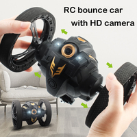 WiFi FPV Camera HD RC Jumping Car Jump High Stunt Car with Music LED Headlights RC Bounce Car Gift Toy kids gift