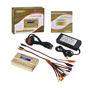 Image 2 - HTRC B6 V2 80W סוללה איזון מטען 15V 6A AC מתאם + 8 ב 1 כבלים + LiPo בטוח סוללה משמר פיצוץ הוכחת תיק פריקה