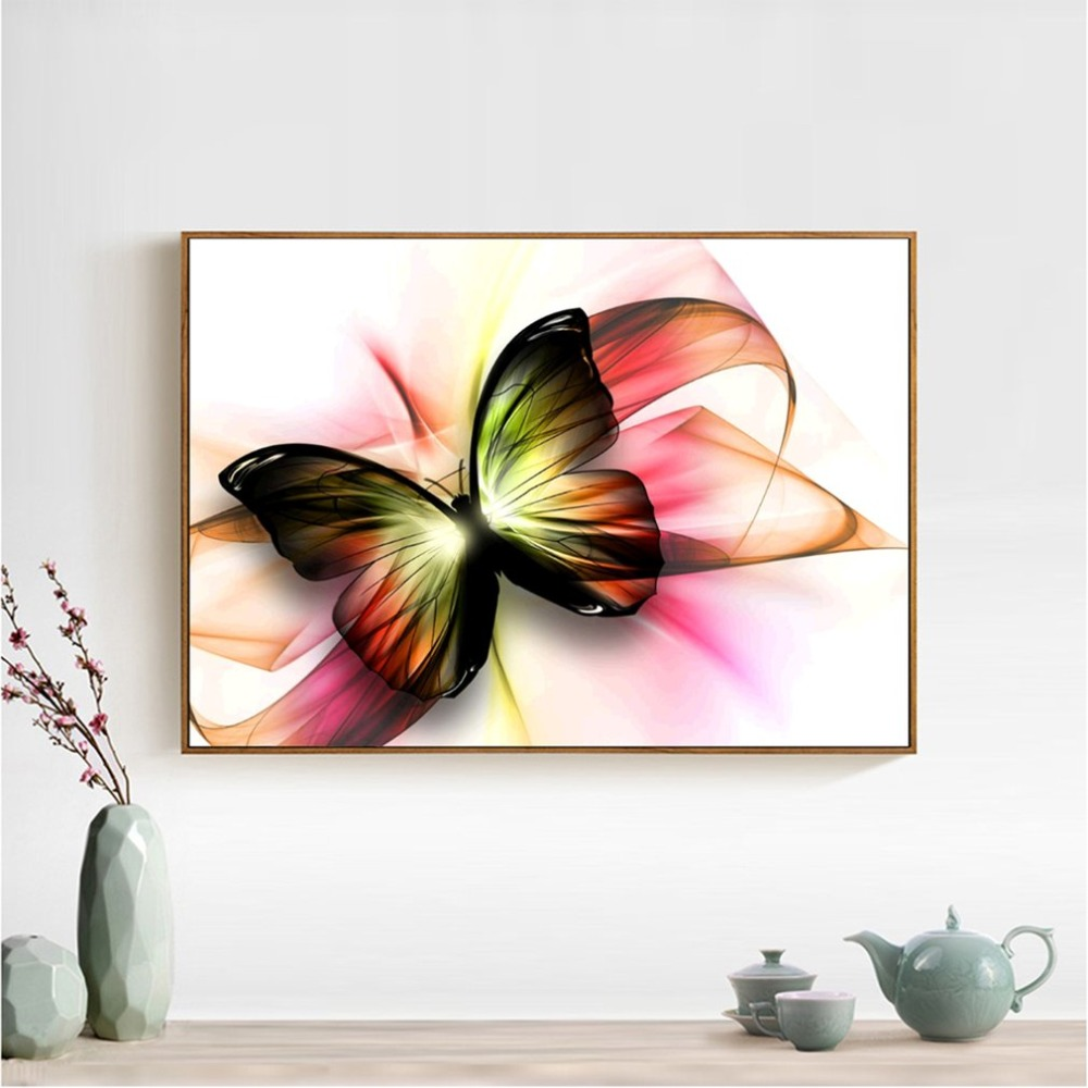 DIY Embroidery Diamond Painting Charming Butterfly Pattern Cross Stitch Home Bedroom Living Room Wall Decoration Picture