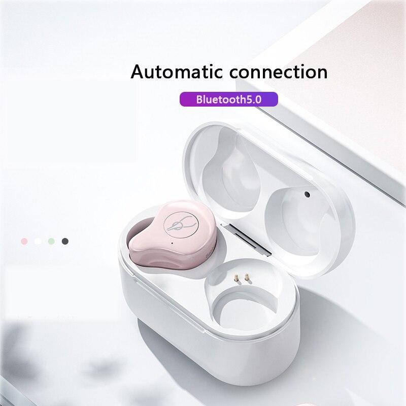 Mise à niveau Bluetooth 5.0 rose étanche sport sans fil Bluetooth casque - 2