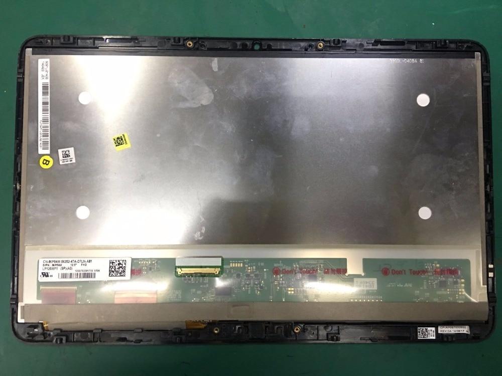 GrassRoot NOVO 12.5 polegadas Tela LCD LP125WF1 Para Dell XPS 12 9Q33 LP125WF1-SPA3 ORM3YV FHD Toque Assembléia 1920*1080 Exibição