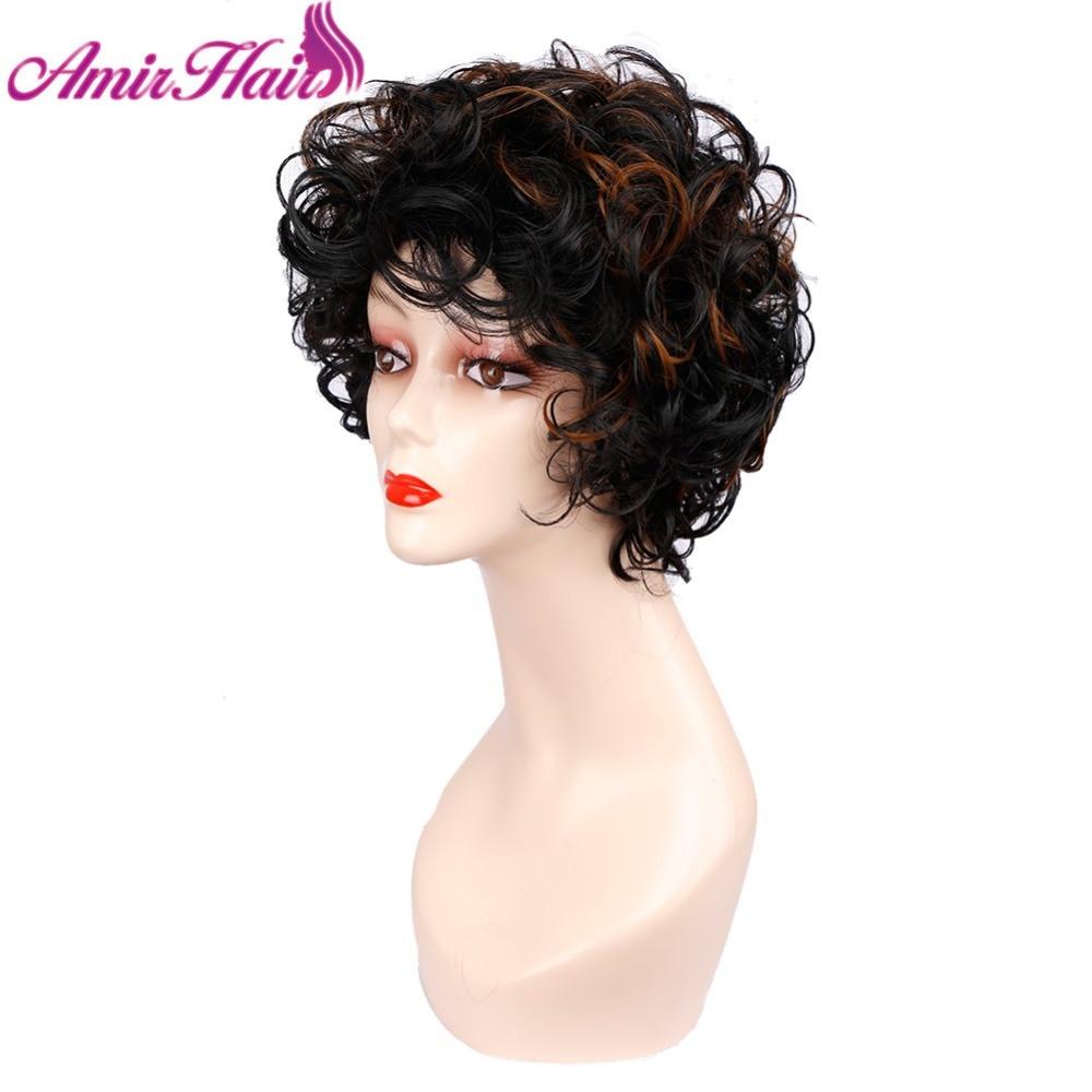 peruca curta para as mulheres ombre loira