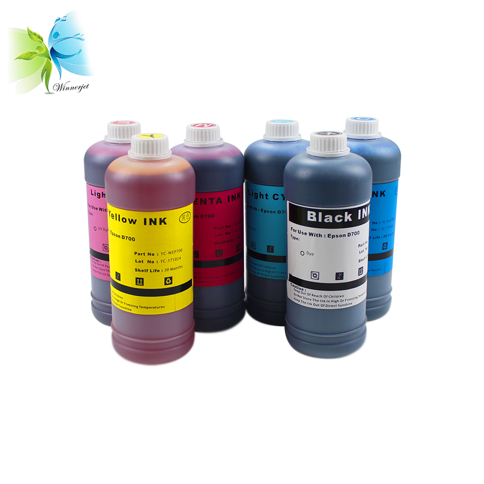Winnerjet 6 bottle 1000ml pigment ink  For Epson XP-15000 Printer with colors