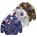 Новое прибытие зимние куртки для мальчиков пальто бомбардировщик ветровка лоскутная дети дети модный out09