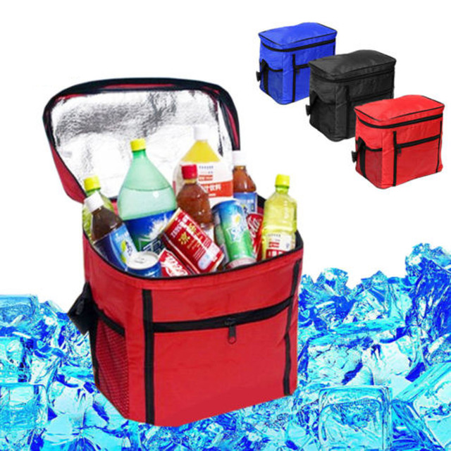 New Large Portable Cool Bag Insulated Thermal Cooler for Food Drink Lunch Picnic With Black Blue Red Color #1119
