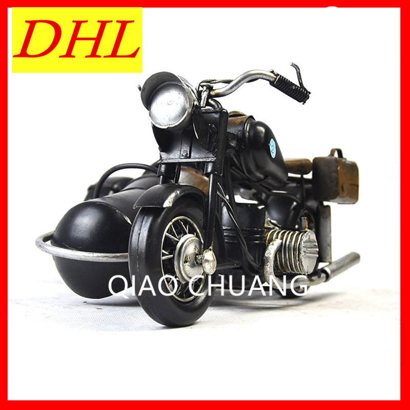 Noble Retro Ironhide Motorcycle World War II Germany R71 Motorcycle With Sidecar PVC Action Figure Collection Model Doll G554