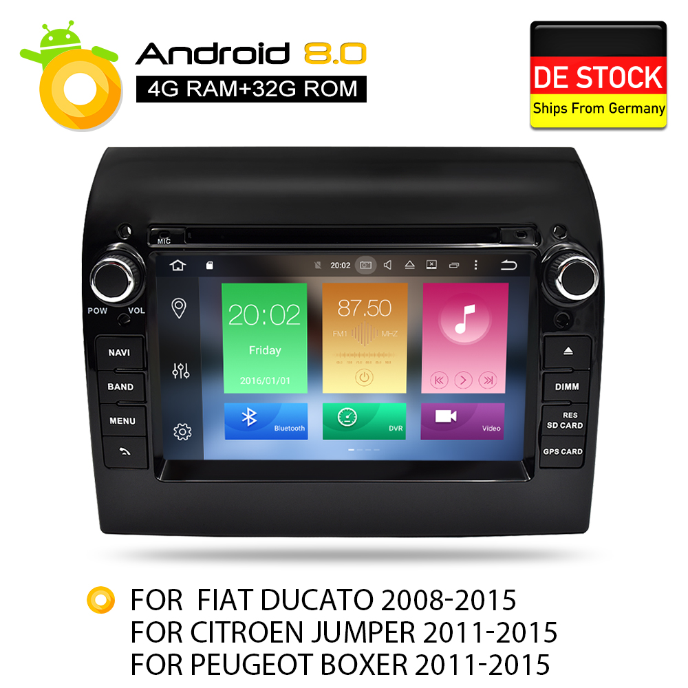 Nouveau Lien Ram 4g Android 7.1 8.0 Voiture Stéréo Pour Fiat Ducato Jumper Boxer 2 gb RAM DVD Headunit bluetooth GPS Navigation TDA7851