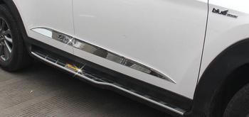 Hohe Qualität Auto Abdeckung Detektor Edelstahl Side Door Körper Trim Sticks Streifen Molding Teil Für Hyundai Tucson 2015 2016 2017