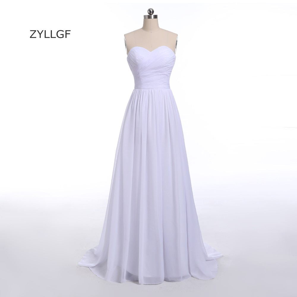 ZYLLGF Sheath Sweetheart Chiffon Bridesmaid Dresses Long Floor Length Pleat զգեստ հարսնաքույրի համար 100 ԱՄՆ դոլարի դիմաց MD19