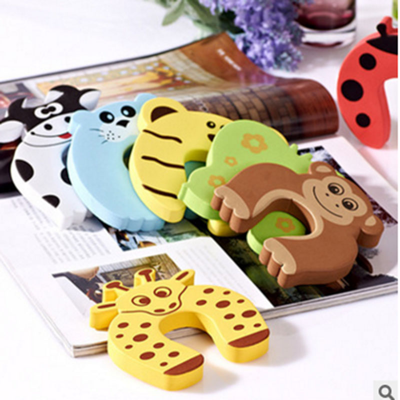 Door Stop Finger Pinch Guard Prevent The Baby Task Of Fingers Door Stop Children's Cartoon Mixed Color Baby Product