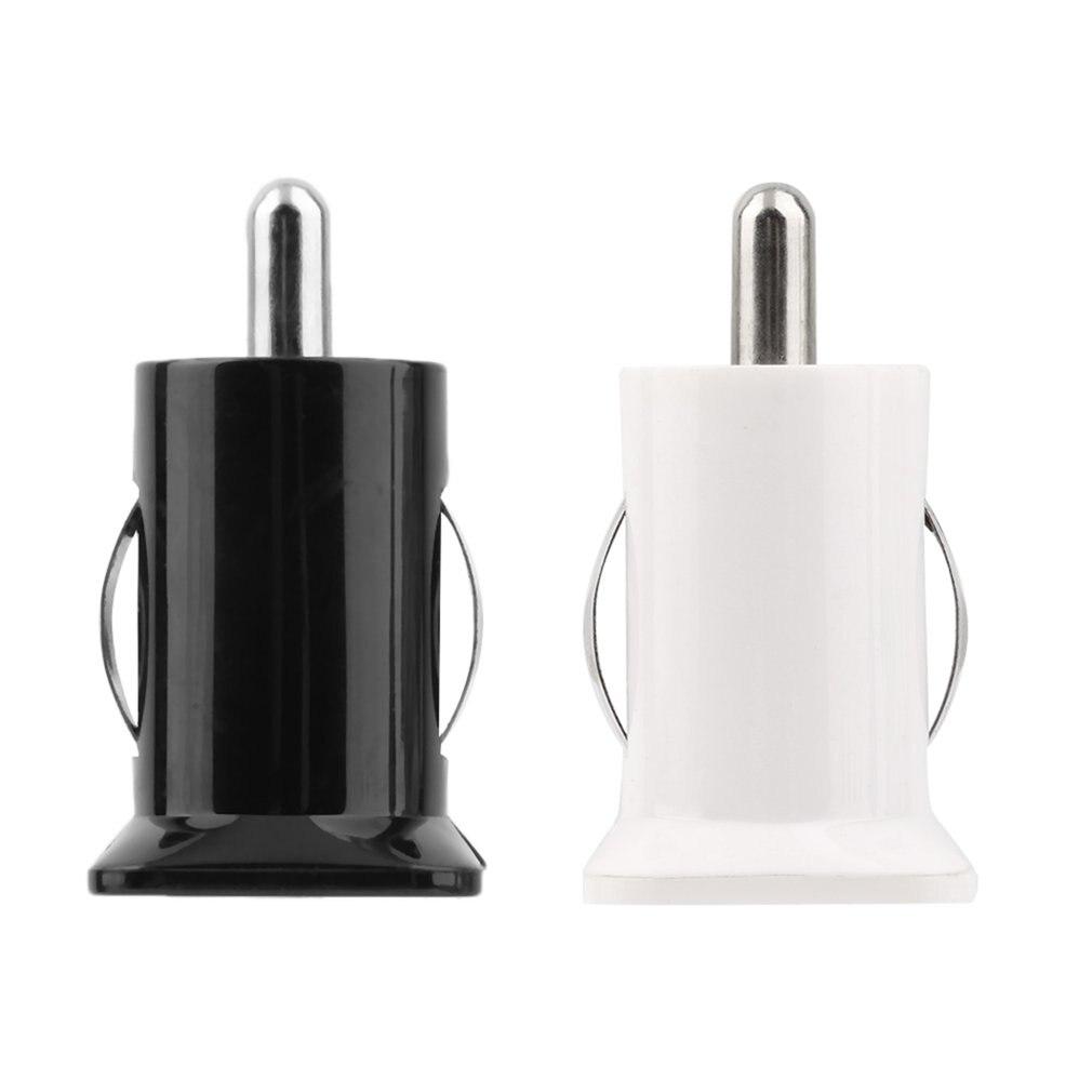2 порта мини карманный размер Универсальный двойной зарядное устройство USB адаптер Пуля 5 в 2.1A+ 1A автомобильное зарядное устройство для мобильных телефонов планшетный ПК