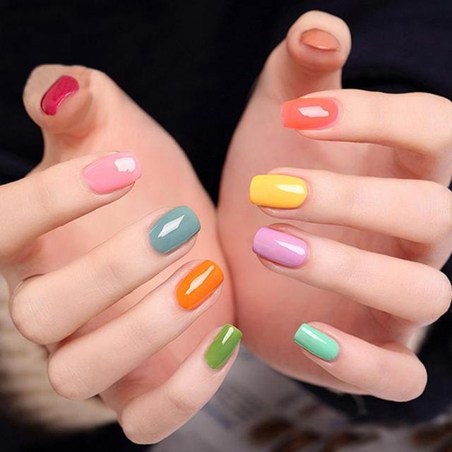 10 Colors Luminous nail polish Fluorescent Neon Luminous Nail Art ...