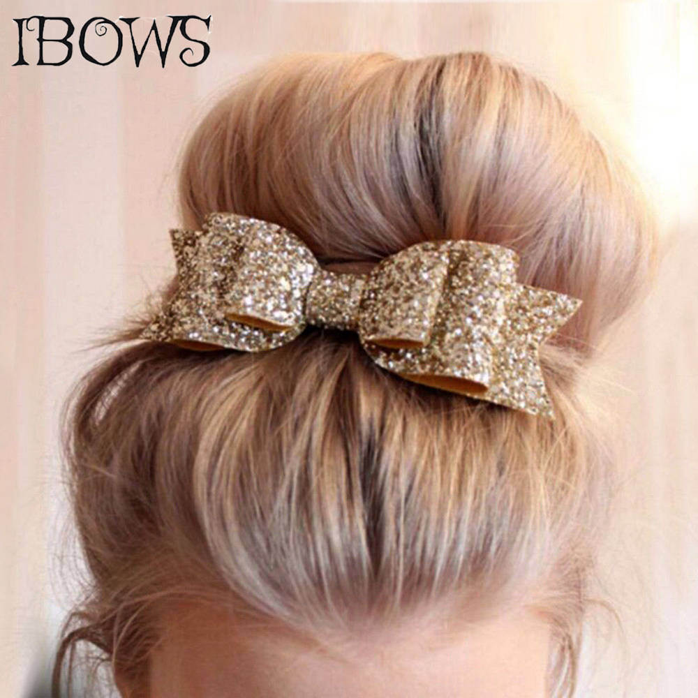2Pcs/lot Fashion Women Sequin Hair Bows s