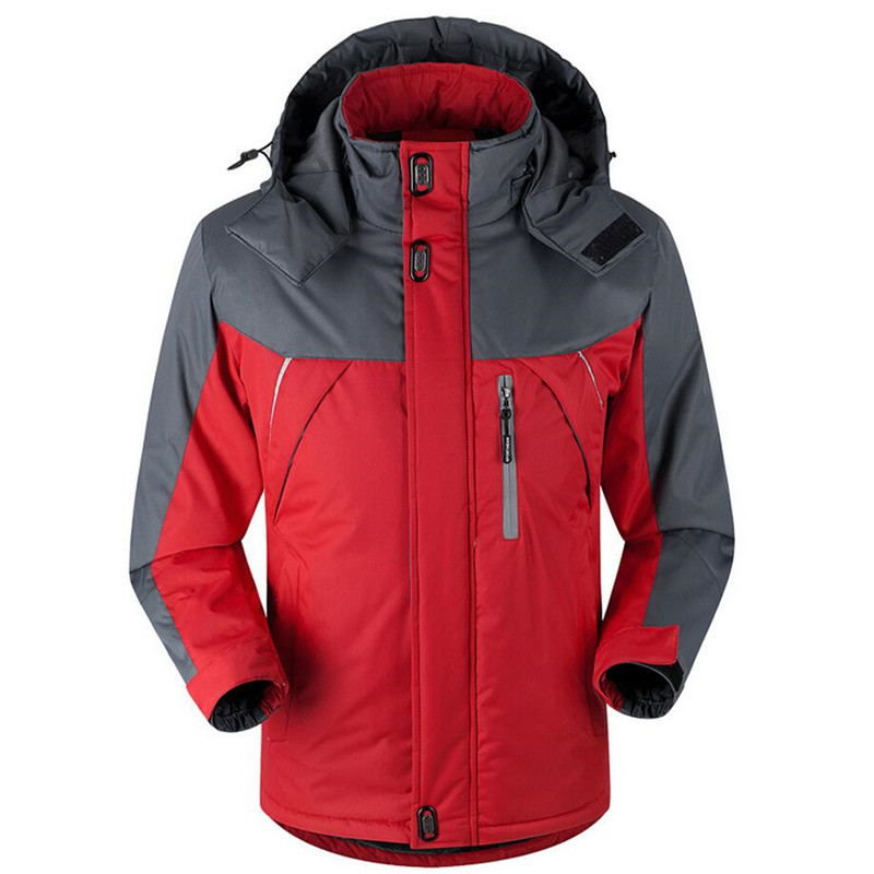 Winter Jacket Men Thermal Downs & Parka Coat Fashion Velvet Jackets Male Outerwear Waterproof Windbreaker Plus Size 5XL 6xl di guo bao wang double sided with velvet men s thermal underwear suits grey size xl