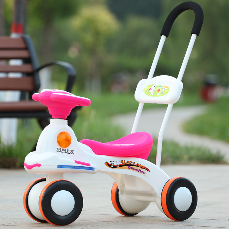 Child Twisting Car Taxiing Walker Baby Roller Four Wheels Stroller with Music Light Child Trolley Pushchair Wheelchair Pusher