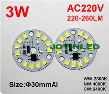 AC220V 3W led diode module 3W Dimmable ic integrated Driver led PCB chips