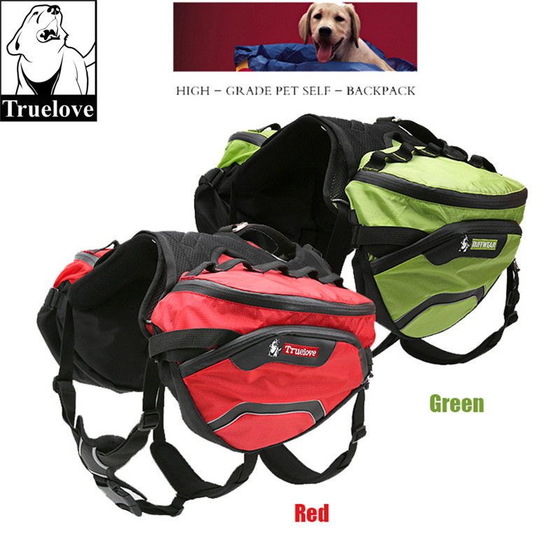 Truelove Pet Backpack Carrier Harness and Bag Space Waterproof Detachable Large Two Used for Outdoor Walking
