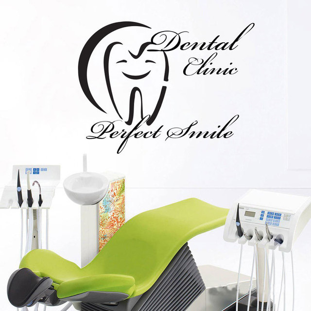 stomatology wall decal dental clinic care dentist logo tooth vinyl