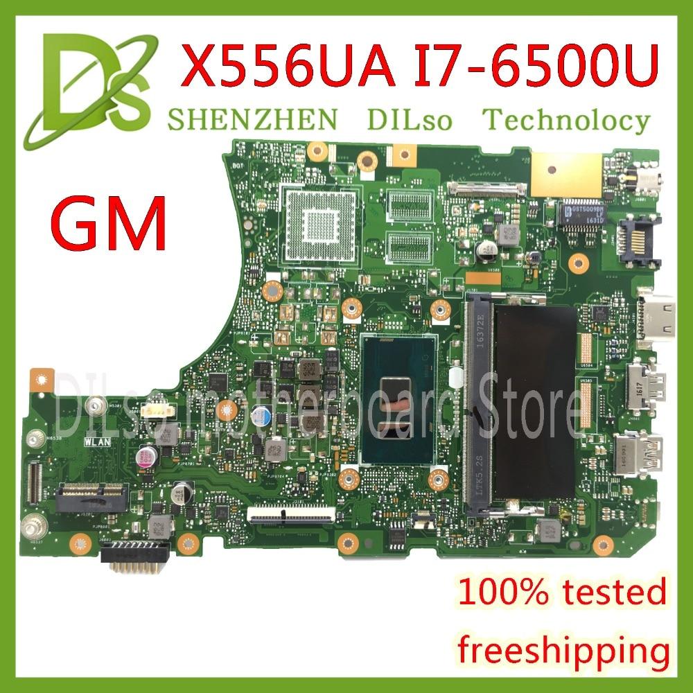 KEFU X556UA X556UAM Motherboard For ASUS X556U X556UJ X556UV X556UA Laptop Motherboard I7-6500U Test Original Motherboard