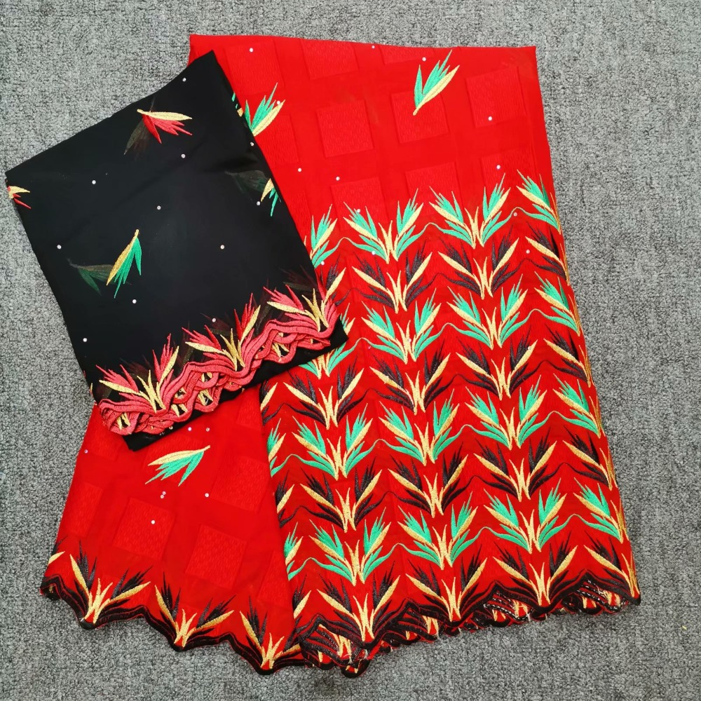 high quality square embroidered with stones swiss 100 cotton fabric tissu africain brode coton 5 2